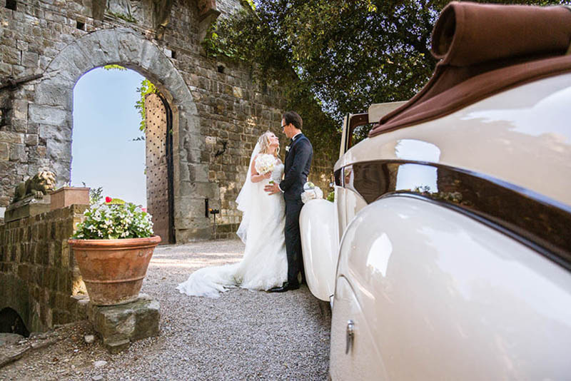 Elegant Castle Wedding in Tuscany