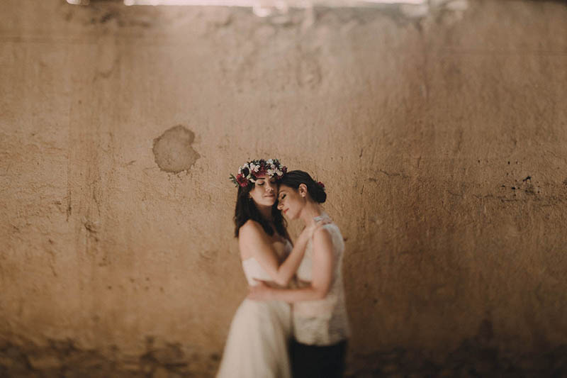 Same Sex Boho Wedding in Tuscany