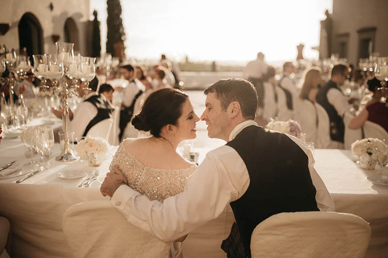 Scottish wedding in Tuscan villa